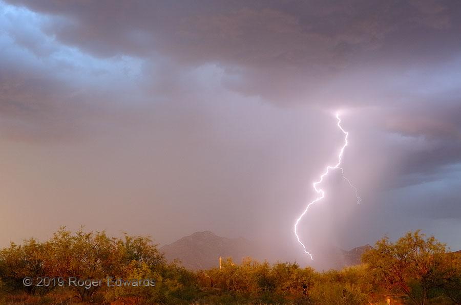Popping a Mountainside (lightning)