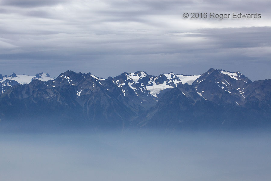 Cloud, Mountain and Smoke Sandwich (Olympic NP)