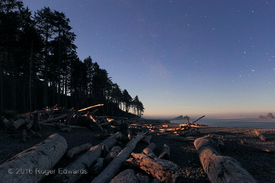 Moonlit Evening on Ruby Beach (Olympic Nat'l Park)