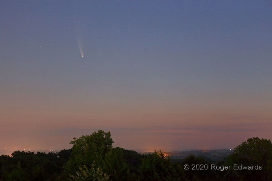 Comet NEOWISE in Norman