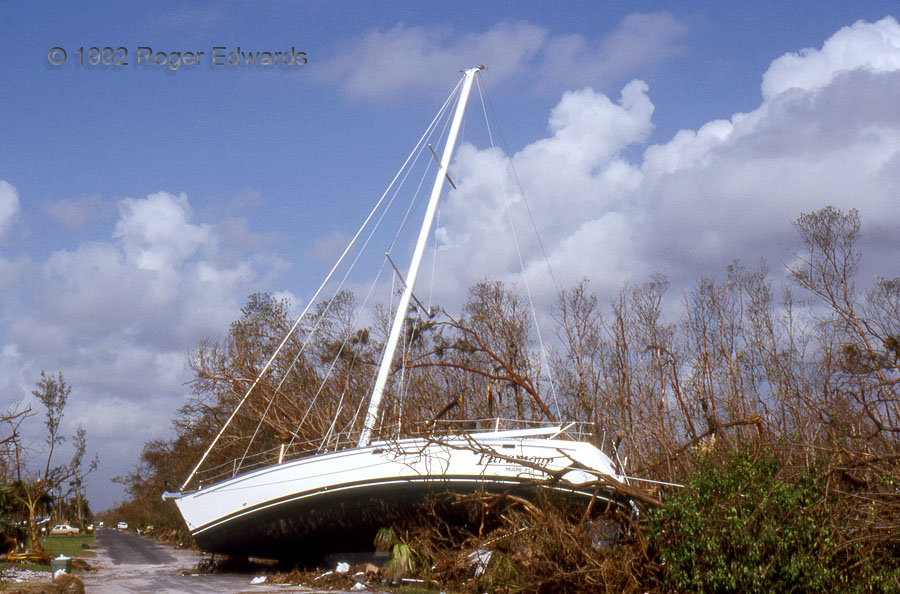 Sailing down the Street (Hurricane Andrew)