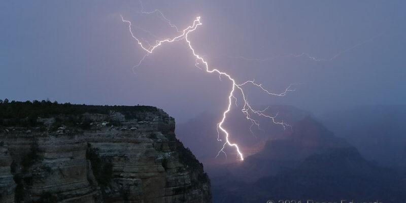 Blast into the Grand Canyon (Lightning)